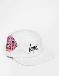 Hype Floral 7 Panel Cap White