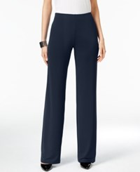 Alfani Knit Wide Leg Trousers Only At Macy's Modern Navy