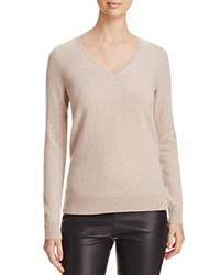 Bloomingdale's C By V Neck Cashmere Sweater Wicker