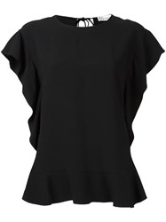Red Valentino Ruffled T Shirt Black