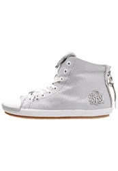 Replay Electra Hightop Trainers Silver