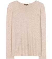 Loro Piana Huntington Knitted Cashmere And Silk Top Beige