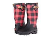 Chooka Lumber Buffalo Plaid Rain Boot Red Women's Rain Boots
