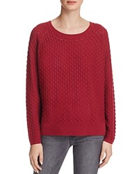 French Connection Ella Knits Textured Sweater Berry Red
