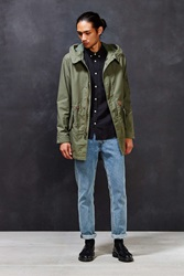 Alpha Industries X Uo Long Fishtail Parka Jacket Olive