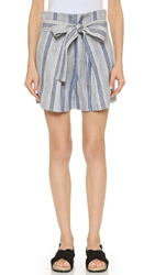 Jenni Kayne Paperbag Shorts Blue White
