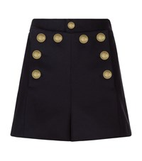 Red Valentino Military Button Shorts Female Blue