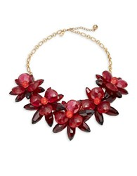 Kate Spade Blooming Brilliant Floral Statement Necklace Pink