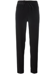 Dkny Drawstring Track Pants Black