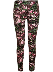 Givenchy Floral Printed Leggings Black
