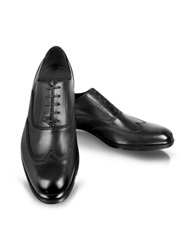 Moreschi Brunei Black Leather Wingtip Oxford Shoes