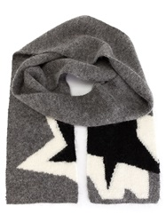 Neil Barrett 'Pop Art Star' Scarf Grey