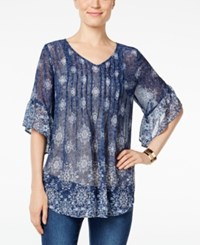 Styleandco. Style Co. Printed Sheer Top Only At Macy's Mesmorizing Med