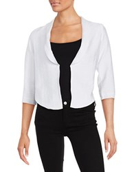 Design Lab Lord And Taylor Asymmetrical Open Front Blazer White