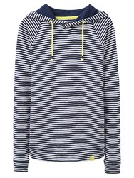 Joules Marlston Lightweight Hoodie French Navy Stripe