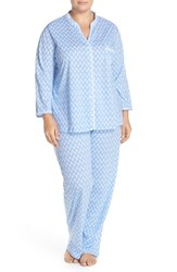 Plus Size Women's Midnight By Carole Hochman Long Sleeve Cotton Pajamas
