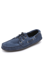 Quoddy Suede Boat Shoes Sharks Fin