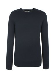 Ben Sherman Cotton Crew Neck Navy