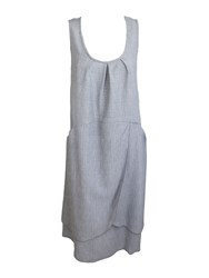 Feverfish Tunic Pocket Wrap Dress Grey