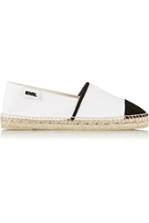 Karl Lagerfeld Two Tone Canvas Espadrilles