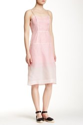 Marc By Marc Jacobs Sheer Layer Silk Dress Pink