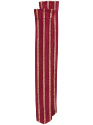 Uma Wang Metallic Striped Socks Red
