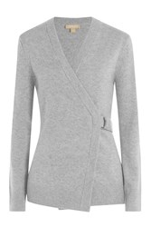 Michael Kors Collection Cashmere Cardigan Grey