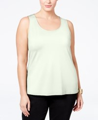 Charter Club Plus Size Tank Top Cloud
