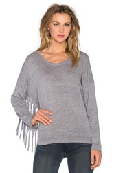 Nation Ltd. Priscilla Fringe Sweatshirt Green