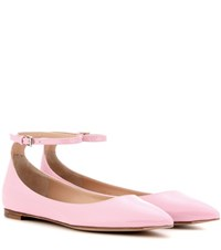 Gianvito Rossi Gia Patent Leather Ballerinas Pink