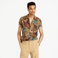 J.Crew Short Sleeve Camp Collar Shirt In Wild Jungle Print