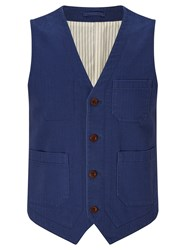 John Lewis And Co. Oliver Cotton Waistcoat Navy