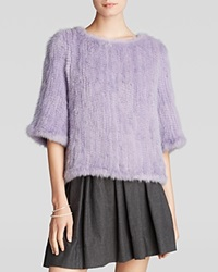 Maximilian Knitted Mink Pullover Lavender