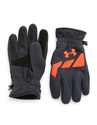Under Armour Coldgear Infrared Leatherette Accented Storm Convex Gloves Orange