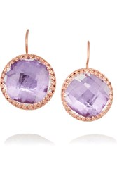 Larkspur And Hawk Olivia Button Rose Gold Dipped Topaz Earrings