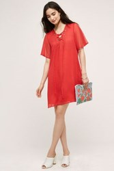 Anthropologie Cece Tunic Dress Bright Red