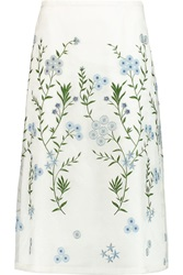 Goat Rodeo Embroidered Silk Organza Skirt