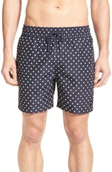 Jack Spade Men's Dot Print Swim Trunks