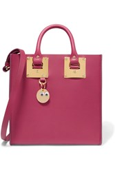 Sophie Hulme Albion Leather Tote Plum