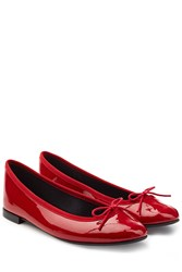 Repetto Lili Patent Leather Ballerinas Red
