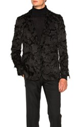 Ann Demeulemeester Single Button Blazer In Black