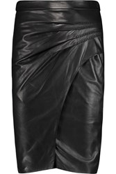 L'agence Karen Leather Skirt Black