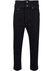 Y Project Stacked Cropped Jeans Black