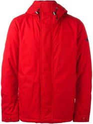 Woolrich Hooded Padded Jacket Red