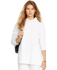 Polo Ralph Lauren Fleece Hooded Tunic White