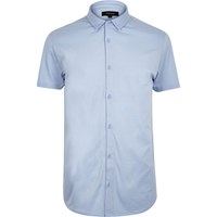 River Island Mens Light Blue Short Sleeve Shirt