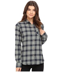 Burton Grace L S Woven Eclipse Haze Plaid Women's Long Sleeve Button Up Gray