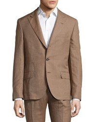 Brunello Cucinelli Wool Blend Two Piece Suit Camel