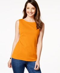 Karen Scott Sleeveless Boat Neck Tank Top Only At Macy's