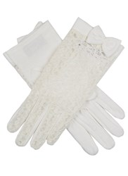 Dents Ladies Lace Back Glove With Cotton Palm Ivory